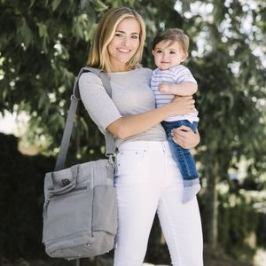 🌸BOGO Ergobaby Coffee Run Grey Canvas Diaper Bag